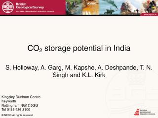 CO 2  storage potential in India