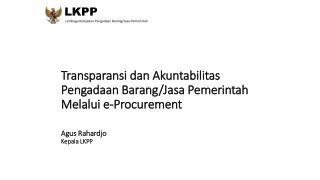 LKPP  Lembaga Kebijakan Pengadaan Barang/Jasa Pemerintah