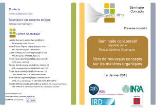 Comité scientifique Laetitia Bernard (Laetitia.Bernard@ird.fr) IRD Montpellier, UMR Eco&Sol
