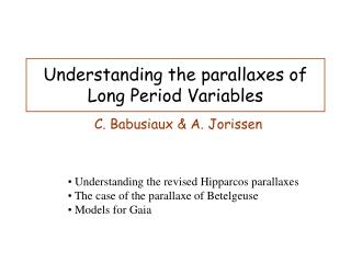 Understanding the parallaxes of Long Period Variables
