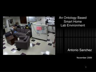 An Ontology Based Smart Home  Lab Environment