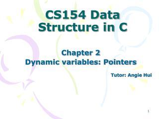 CS154 Data Structure in C