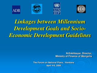 Linkages between Millennium Development Goals and Socio-Economic Development Guidelines