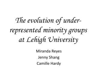 The evolution of under-represented minority groups at Lehigh University
