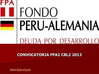 CONVOCATORIA  FPA2  C8L2 2013