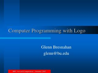 Computer Programming with Logo