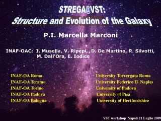 P.I. Marcella Marconi INAF-OAC:  I. Musella, V. Ripepi,  D. De Martino, R. Silvotti,