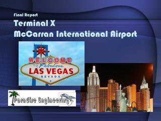Final Report Terminal X McCarran International Airport