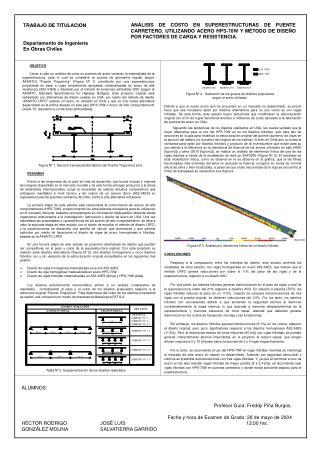 TRABAJO DE TITULACION Departamento de Ingeniería En Obras Civiles