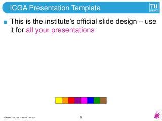ICGA Presentation Template