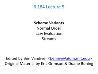6.184 Lecture 5