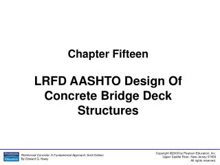 Chapter Fifteen LRFD AASHTO Design Of Concrete Bridge Deck Structures