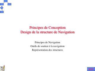 P rincipes de Conception D esign de la structure de Navigation