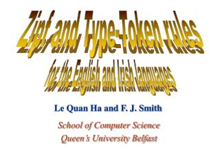 School of Computer Science Queen's University Belfast