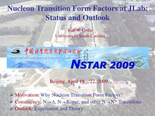 Nucleon Transition Form Factors at JLab:  Status and Outlook