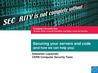 Securing your servers and code (and how we can help you)