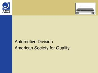 Automotive Division American Society for Quality