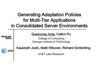 Generating Adaptation Policies for Multi-Tier Applications in Consolidated Server Environments