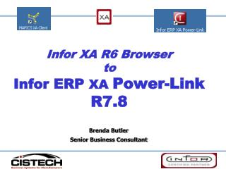 Infor XA R6 Browser  to  Infor ERP XA Power-Link R7.8