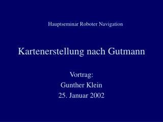 Kartenerstellung nach Gutmann