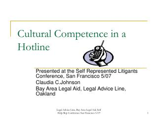 Cultural Competence in a Hotline