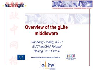 Overview of the gLite middleware