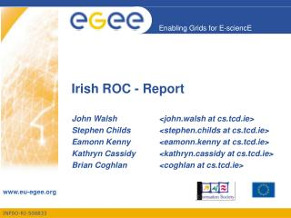 Irish ROC - Report