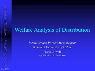 Welfare Analysis of Distribution