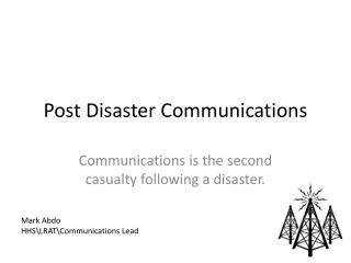 Post Disaster Communications