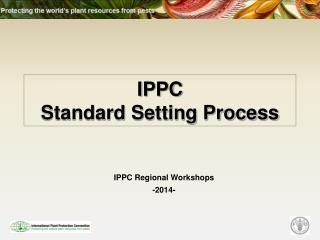 IPPC Standard Setting Process