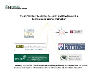 The 21 st  Century Center for Research and Development in Cognition and Science Instruction