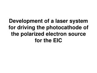 Cathode, Laser and Injector Pose Significant Challenge for ERL based EIC: ~  50 mA from injector