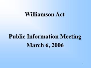 Williamson Act