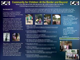 Community for Children: At the Border and Beyond