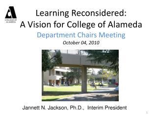 Jannett N. Jackson, Ph.D.,  Interim President
