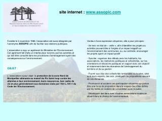site internet:  assopic