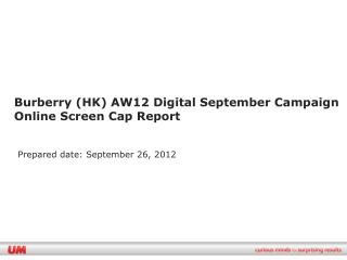 Burberry (HK) AW12 Digital September Campaign  Online Screen Cap Report