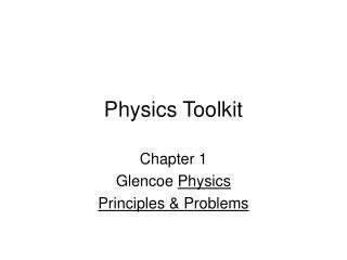 Physics Toolkit