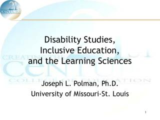 Disability Studies,  Inclusive Education,  and the Learning Sciences