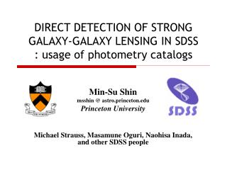 DIRECT DETECTION OF STRONG GALAXY-GALAXY LENSING IN SDSS : usage of photometry catalogs