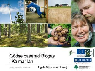 Gödselbaserad Biogas  i Kalmar län Ingela Nilsson Nachtweij