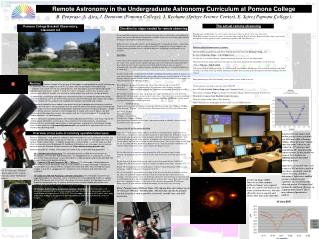 Remote Astronomy in the Undergraduate Astronomy Curriculum at Pomona College
