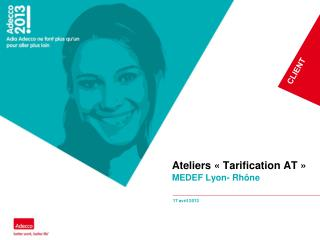 Ateliers ��Tarification AT��