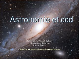 Astronomie et ccd