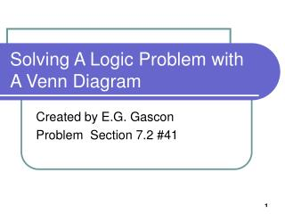 Solving A Logic Problem with A Venn Diagram