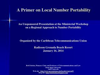 A Primer on Local Number Portability
