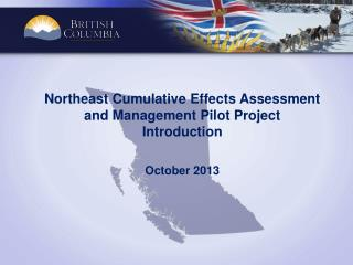 Northeast Cumulative Effects Assessment and Management Pilot Project  Introduction October  2013