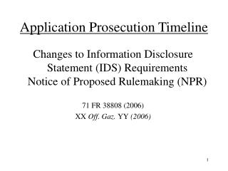 Application Prosecution Timeline