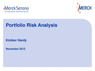 Portfolio Risk Analysis  Kimber Hardy November 2012