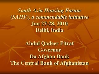 South Asia: a regional scenario